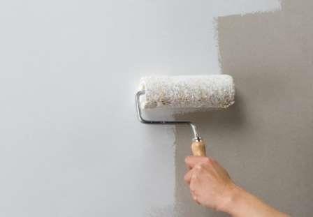 Фото покрашенных стен водоэмульсионкой